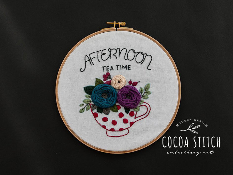 "Picture of 9"" Afternoon Tea Time PDF Pattern"