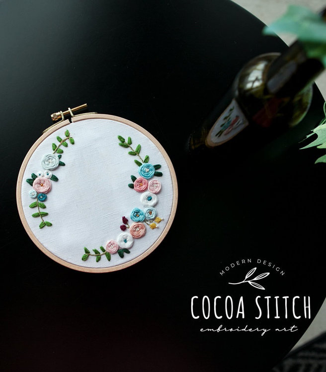 """Picture of Flower 6"""" Embroidery PDF Pattern"""