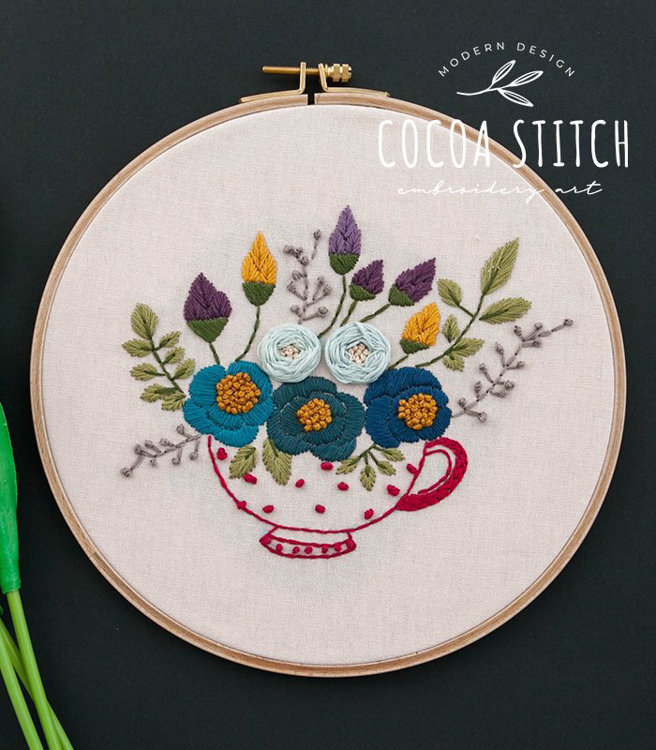 """Picture of 9"""" Red Tea Cup PDF Pattern"""