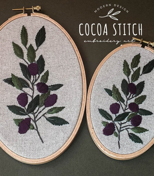 "Picture of 6"", 8"" Olive Branch Set  PDF Pattern"