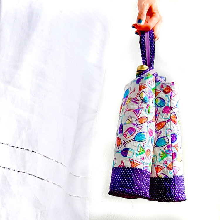 Picture of Wine Bottle Carrier Pattern/ 3 Variation